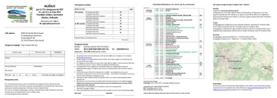 (versio jan.2021)Aliĝilo 72-a IFEF-kongreso en Frankfurt (Oder) / Słubice