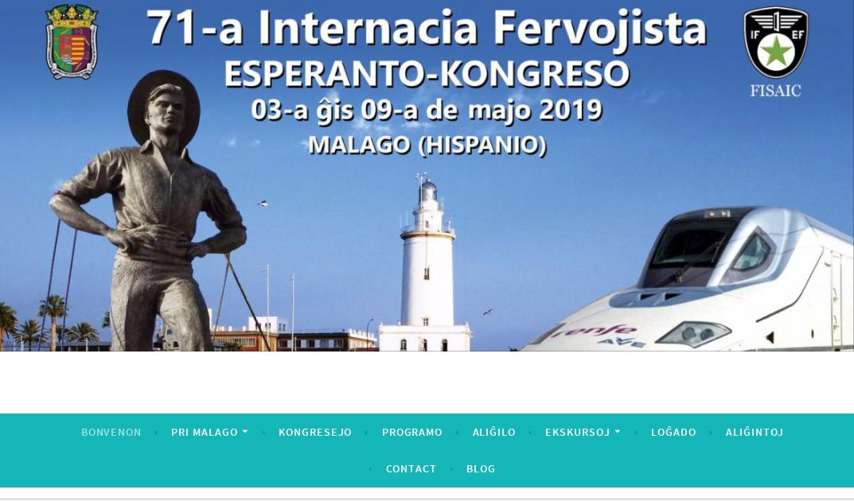 Propra retejo de la IFEF-kongreso en Malaga 3-9ajn de majo 2019